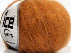 Lot of 10 Skeins Ice Yarns FLUFFY SUPERFINE (20% Wool) Yarn Caramel