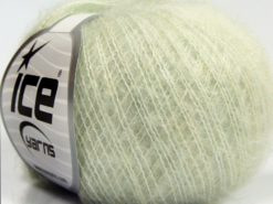 Lot of 10 Skeins Ice Yarns FLUFFY SUPERFINE (20% Wool) Yarn Light Water Green