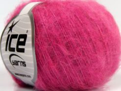 Lot of 10 Skeins Ice Yarns FLUFFY SUPERFINE (20% Wool) Yarn Candy Pink
