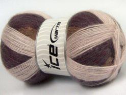 Lot of 3 x 125gr Skeins Ice Yarns SALE WINTER (18% Angora 32% Wool) Yarn Maroon Beige Powder Pink