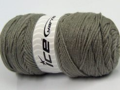 Lot of 3 x 120gr Skeins Ice Yarns SALE PLAIN Hand Knitting Yarn Light Grey