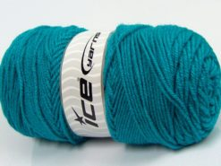 Lot of 2 x 125gr Skeins Ice Yarns SALE PLAIN Hand Knitting Yarn Turquoise