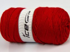 Lot of 2 x 165gr Skeins Ice Yarns SALE PLAIN Hand Knitting Yarn Dark Red