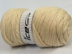 Lot of 2 x 170gr Skeins Ice Yarns SALE PLAIN Hand Knitting Yarn Cream