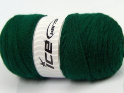 Lot of 2 x 175gr Skeins Ice Yarns SALE PLAIN Hand Knitting Yarn Dark Green