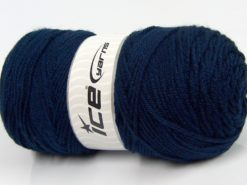 Lot of 2 x 175gr Skeins Ice Yarns SALE PLAIN Hand Knitting Yarn Navy