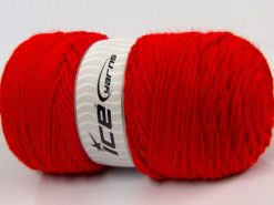 Lot of 2 x 200gr Skeins Ice Yarns SAVER Hand Knitting Yarn Red