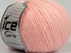 Lot of 8 Skeins Ice Yarns SALE WINTER (10% Wool) Hand Knitting Yarn Baby Pink