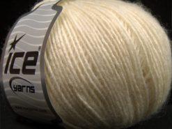 Lot of 8 Skeins Ice Yarns SALE WINTER (40% Wool) Hand Knitting Yarn Cream