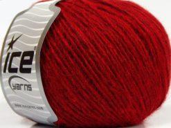 Lot of 8 Skeins Ice Yarns SALE WINTER (40% Wool) Hand Knitting Yarn Dark Red