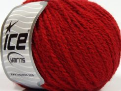 Lot of 8 Skeins Ice Yarns MACARON (3% Elastan) Hand Knitting Yarn Dark Red