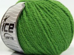 Lot of 8 Skeins Ice Yarns MACARON (3% Elastan) Hand Knitting Yarn Green