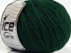 Lot of 8 Skeins Ice Yarns MACARON (3% Elastan) Hand Knitting Yarn Dark Green
