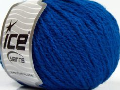 Lot of 8 Skeins Ice Yarns MACARON (3% Elastan) Hand Knitting Yarn Saxe Blue