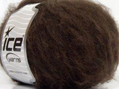 Lot of 8 Skeins Ice Yarns KAN MOHAIR (20% Mohair 25% Wool) Yarn Coffee Brown