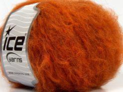 Lot of 8 Skeins Ice Yarns KAN MOHAIR (20% Mohair 25% Wool) Yarn Dark Orange