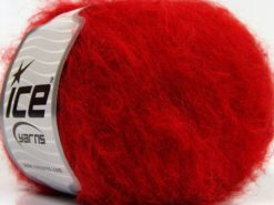 Lot of 8 Skeins Ice Yarns KAN MOHAIR (20% Mohair 25% Wool) Yarn Red
