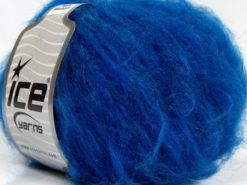 Lot of 8 Skeins Ice Yarns KAN MOHAIR (20% Mohair 25% Wool) Yarn Saxe Blue