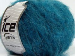 Lot of 8 Skeins Ice Yarns KAN MOHAIR (20% Mohair 25% Wool) Yarn Turquoise