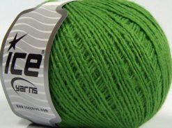 Lot of 8 Skeins Ice Yarns MILD FINE (5% Elastan) Hand Knitting Yarn Green