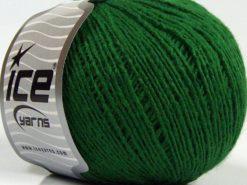 Lot of 8 Skeins Ice Yarns MILD FINE (5% Elastan) Hand Knitting Yarn Dark Green