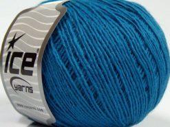 Lot of 8 Skeins Ice Yarns MILD FINE (5% Elastan) Hand Knitting Yarn Blue