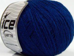 Lot of 8 Skeins Ice Yarns MILD FINE (5% Elastan) Hand Knitting Yarn Saxe Blue