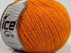 Lot of 8 Skeins Ice Yarns MILD FINE (5% Elastan) Hand Knitting Yarn Gold