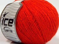 Lot of 8 Skeins Ice Yarns MILD FINE (5% Elastan) Hand Knitting Yarn Orange