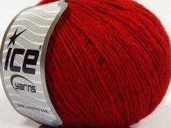 Lot of 8 Skeins Ice Yarns MILD FINE (5% Elastan) Hand Knitting Yarn Red