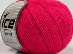 Lot of 8 Skeins Ice Yarns MILD FINE (5% Elastan) Hand Knitting Yarn Pink