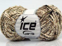 Lot of 8 Skeins Ice Yarns SALE METALLIC (58% Cotton) Yarn Khaki Brown Black Cream