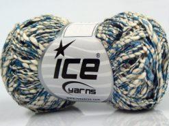 Lot of 8 Skeins Ice Yarns SALE METALLIC (58% Cotton) Yarn Blue Black Cream