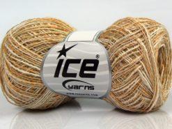 Lot of 8 Skeins Ice Yarns SALE SUMMER (50% Cotton 30% Viscose) Yarn Light Khaki Gold Cream