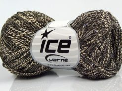 Lot of 8 Skeins Ice Yarns ALDEBARAN GLITZ (50% Cotton) Yarn Cream Black