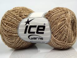 Lot of 8 Skeins Ice Yarns ALDEBARAN GLITZ (50% Cotton) Yarn Cream Light Camel