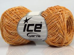 Lot of 8 Skeins Ice Yarns ALDEBARAN GLITZ (50% Cotton) Yarn Cream Gold