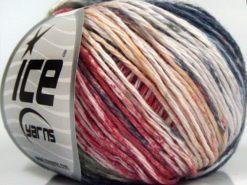 Lot of 8 Skeins Ice Yarns MONA LISA (100% Cotton) Yarn Dark Navy Khaki Red Light Pink Gold