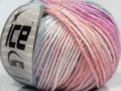 Lot of 8 Skeins Ice Yarns MONA LISA (100% Cotton) Yarn Light Salmon White Pink Water Green