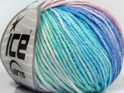 Lot of 8 Skeins Ice Yarns MONA LISA (100% Cotton) Yarn Turquoise Mint Green Light Salmon Blue Lilac
