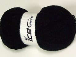 330 gr ICE YARNS Huge Boucle SALE WINTER (20% Wool) Hand Knitting Yarn Black