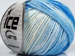 Lot of 8 Skeins Ice Yarns MONA LISA (100% Cotton) Yarn Blue Shades White Beige