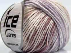 Lot of 8 Skeins Ice Yarns MONA LISA (100% Cotton) Yarn Lilac Brown White Beige