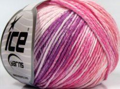 Lot of 8 Skeins Ice Yarns MONA LISA (100% Cotton) Yarn Pink Shades Lilac Shades White