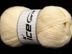 Lot of 4 x 100gr Skeins Ice Yarns SOLID SOCK (75% Superwash Wool) Yarn Cream