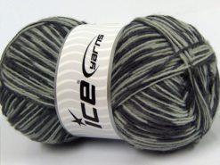 Lot of 4 x 100gr Skeins Ice Yarns MAGIC SOCK (75% Superwash Wool) Yarn Grey Shades