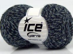 Lot of 8 Skeins Ice Yarns SALE WINTER (30% Wool) Hand Knitting Yarn Navy Grey