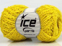 Lot of 8 Skeins Ice Yarns COTTONAC WAVE (50% Cotton) Hand Knitting Yarn Yellow