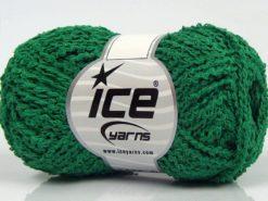 Lot of 8 Skeins Ice Yarns COTTONAC WAVE (50% Cotton) Hand Knitting Yarn Green