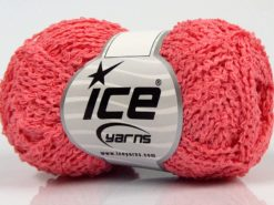 Lot of 8 Skeins Ice Yarns COTTONAC WAVE (50% Cotton) Hand Knitting Yarn Pink